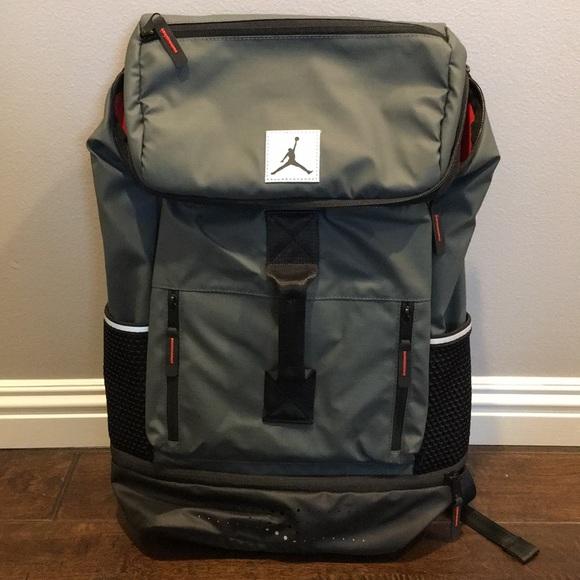 Nike Bags   New Dark Grey Jordan Jumpan23 Backpack   Poshmark c97ad433dd